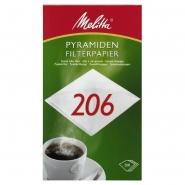 Melitta Filterpapier Pa SF 206 G 1 Packung 200 Kaffeefilter