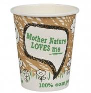 50 PLA Kaffeebecher 36cl Bio Pappbecher Mother Nature