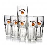 Malibu Glas - 6 Gläser 360ml Longdrink Cocktail