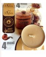Maxi Duft - Teelichte Anti Tabak Kerzen 10h brenndauer