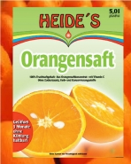 Orangensaft Heide Saft-Box 5 Liter Bag-in-Box mit Zapfhan
