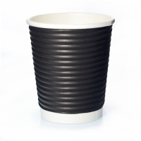 50 Ripple Cups Schwarz 8oz Doppelwand Coffee to go 0,2 l