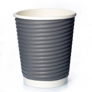 Ripple Cups Grau 12oz Doppelwand 50 Coffee to go Becher 0,3l