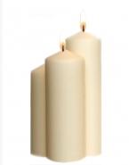 Kerzen für Laterne Elfenbein 3er Stumpenkerzen Laternen