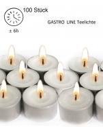 100 Teelichte Gastro Line Teelichter in Box 6h Brenndauer