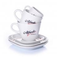 Alfredo Kaffeegeschirr 6-teilig Ober- + Untertassen