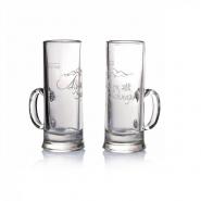 Alpenschnaps Stamperl mit Henkel Glas 2 cl Gläser 4 cl