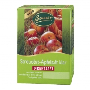 Apfelsaft klar Streuobst Direktsaft 3 Liter Bag-in-Box Bauer