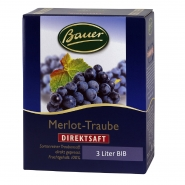 Merlot-Traube Roter Traubensaft Bauer Direktsaft Bag-in-Box 3 Liter