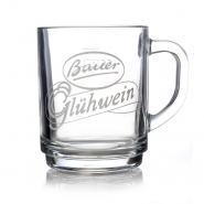 Glühweingläser Bauer 0,2l Punsch Tee Glas 1 Henkelbecher