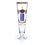 Bierglas FC Rot Weiss Erfurt 0,5 l Glas mit Stiel Fan Artikel