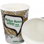 1.000 PLA Kaffeebecher 36 cl Bio Pappbecher Mother Nature