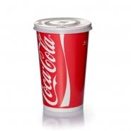 Coca Cola Becher 0,4l mit Deckel Kreuzschlitz 200 Stk.