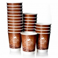 Coffee to go Becher 0,4l Double Wall 16oz Pappbecher Premium 500 Stk.
