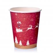 Coffee to go Becher 24cl Pappbecher Design Rentier 50 Stk