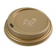 Coffee to go Deckel Gold Ø80mm für Pappbecher 0,2l, 100 Stk