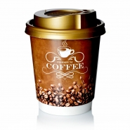 Coffee to go Becher 0,2l Pappbecher Double Wall mit Deckel Gold 200 Stk