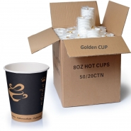 Coffee to go Becher 0,2l Pappbecher Golden Cup 1000 Stk.