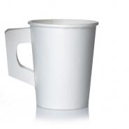 Coffee to go Becher mit Henkel 1,8l Pappbecher Neutral 80 Stk, 180 ml