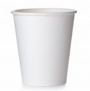 50 Coffee to go Becher 0,2 l, Weiß - Neutral Pappbecher