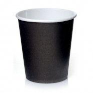 Coffee to go Becher 0,2l Schwarz 24cl Pappbecher 50 Stk.