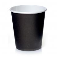 50 Coffee to go Becher Schwarz 0,2 l Pappbecher 200 ml