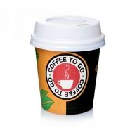 Coffeetime Espressobecher 0,1l mit Deckel weiß 10cl Einwegbecher 100 Stk.