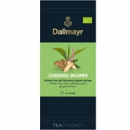 Dallmayr Tee Pocket Grüner Tee Ginseng-Ingwer Bio 1er Pack 30 x 2,5g