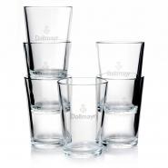 Dallmayr Wasser Glas 0,2l Latte Macchiato Gläser 12 Stk.
