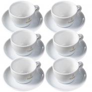 Dallmayr Milchkaffeetasse 0,36l mit Untertasse komplett 6er Pack