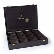Dallmayr Teebox Edelholz 12er für Tee Pyramiden
