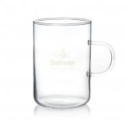Dallmayr Teeglas 250 ml Glas mit Logo + Henkel für Aufgussbeutel