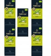 Dallmayr Tee Champs Bio-Kräutertee Zitronenverbene 5er Pack 16 x 3,0g