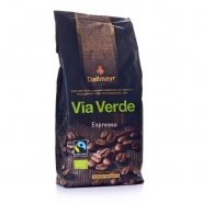 Dallmayr Via Verde Espresso Bio Fairtrade 1kg Kaffee ganze Bohne