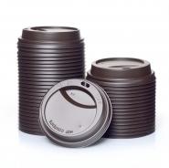 Coffee to go Deckel 0,2l braun Karton 1000Stk Ø80mm 200ml / 8oz