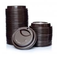Deckel für Hartpapierbecher Ø90 mm, 100 braun 0,3l/0,4l