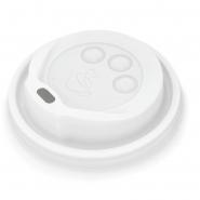 Deckel Coffee to go für Pappbecher 0,3l - 0,4l Becher 12oz - 16oz weiß Ø90mm, 1000 Stk.