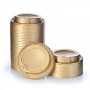 1000 Deckel für Pappbecher Ø90 mm, 0,3 / 0,4 l Gold