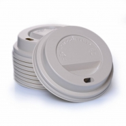 Bio Deckel PLA für Kaffeebecher Ø80 mm, 0,2 l - 100 Stück