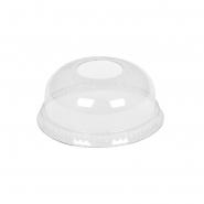 Domdeckel mit Loch glasklar für Trinkbecher PET Ø78mm, 50 Stk