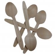 Eco Einwegbesteck Holzlöffel 16,5 cm - Naturprodukt - 100 Löffel