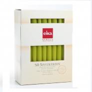 Eika Spitzkerzen Kiwi 50er Pack Tischkerzen 245 x 24mm