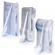Plastikbesteck Set Messer + Gabeln + Löffel je 100 Stk.