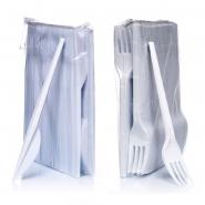 Plastikbesteck Set Messer + Gabeln je 100 Stk.