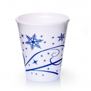 1000 Styroporbecher Snowflake 0,2 l Isolier-Thermobecher