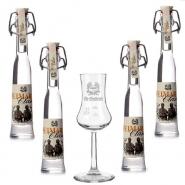 Fahner Weimar Classic Kräuterschnaps + 1 Obstlerglas 4 x 40 ml, 40% vol.