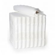Piccoloservietten 17 x 17 cm, weiß, 2000 Servietten gezackt