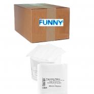 Funny Prägeservietten 1/4 Falz, 1-lagig, 32 x 32cm weiß 10 x 500 Stk.
