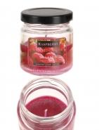 Duftkerze mit Glastopf  Raspberry Duft