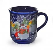 Glühweinbecher Glühweintassen 200ml - 1 Tasse Blau 0,2 l